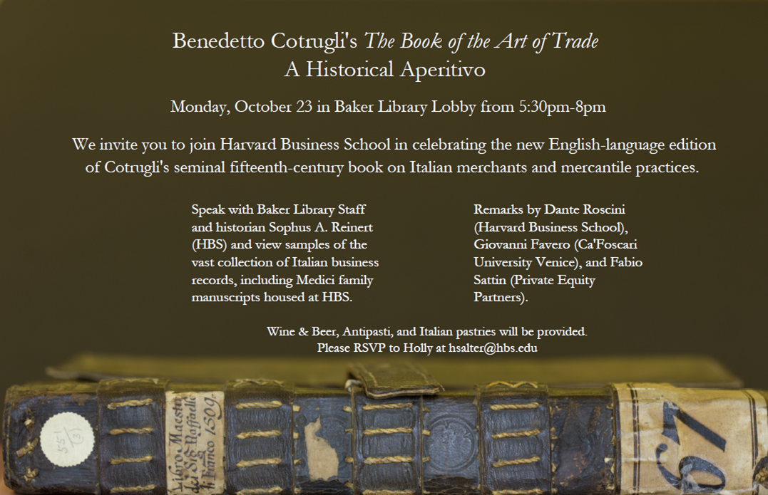 "Benedetto Cotrugli's ""The Book of the Art of Trade"""